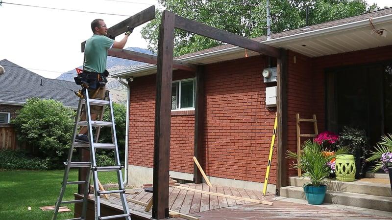 Remodelaholic Diy Modern Deck Pergola Plans