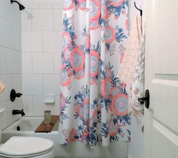 Friday Favorites: Floral Shower Curtain and a Beautiful Hutch