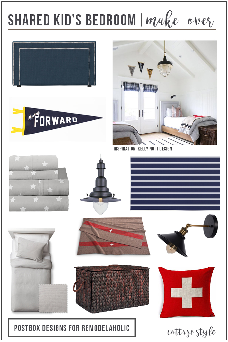 How to Create a Gender Neutral (and Budget Friendly) Shared Kid's Bedroom by Postbox Designs
