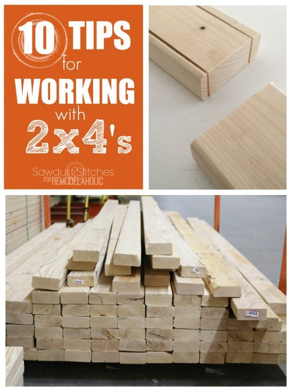 Top Tips For Working With 2x4's For Remodelaholic.com 1