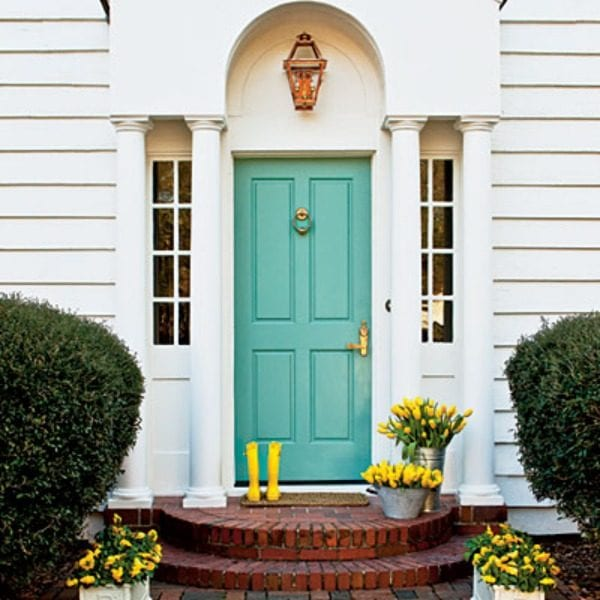 Porch Light Denver: Summer Porch Inspiration: Green Front Doors