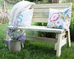 Bench Made From 2x4s Virginia Sweet Pea