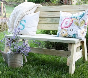 15+ Beautiful 2×4 Benches and Seating Ideas