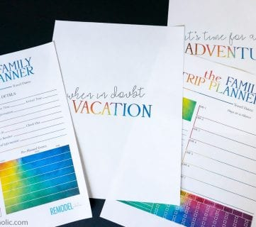 Get Planning! Free Family Vacation Printable Pack + Shirt Designs