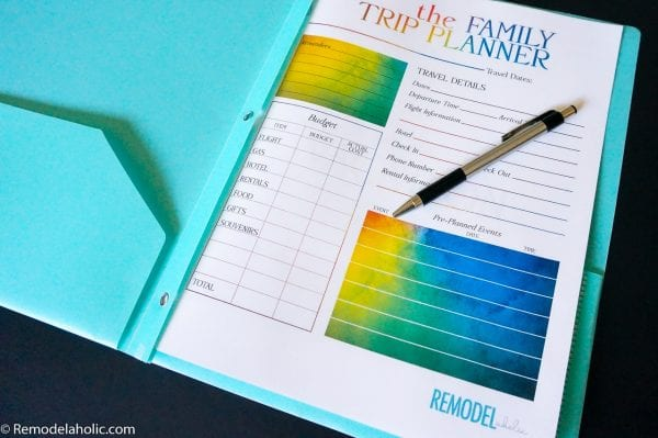 Family Vacation Printable Pack Planner Shirts And Countdown @remodelaholic (4)