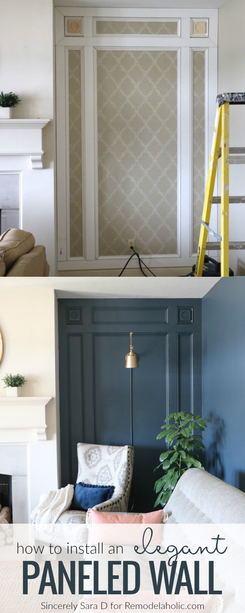Remodelaholic Diy Elegant Paneled Wall Treatment