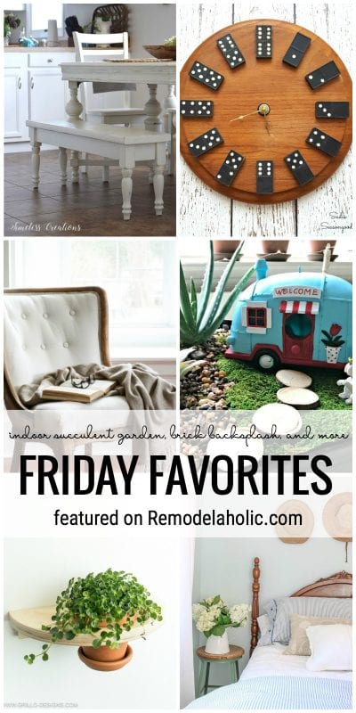 Indoor Succulent Garden, Brickbacksplash, And More Featured On Remodelaholic.com For Friday Favorites