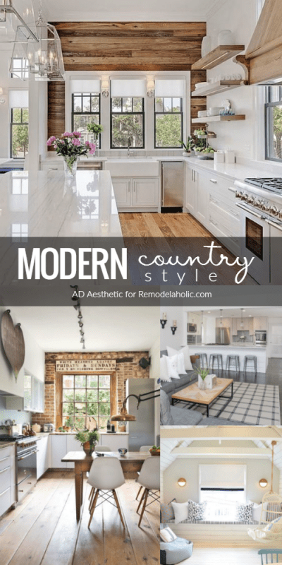 Modern Country Style Tips And Decorating Inspiration @Remodelaholic