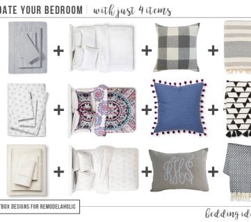 Update Your Bedroom with Just 4 Items by Postbox Designs Interior E-Design for Remodelaholic