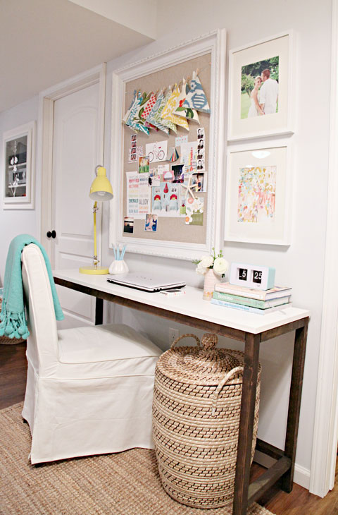 2x2 Projects, Easy Wood Console Desk, I Heart Organizing