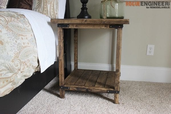 2x2 Projects, Rustic Bedside Table @Remodelaholic