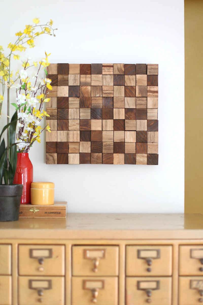 Luxury x Projects Wood Block Wall Art A Beautiful Mess