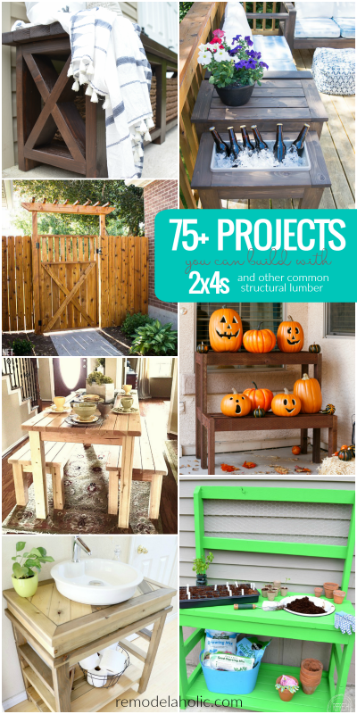 75 Projects You Can Built With 2x4s And Other Common Structural Lumber | Satisfy the building bug with more than 75 projects you can build with 2x4s and other common structural lumber -- from furniture to patio benches and more.