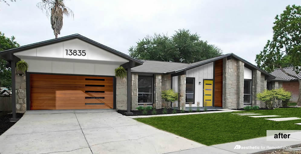 Remodelaholic Real Life Rooms Mid Century Modern Curb