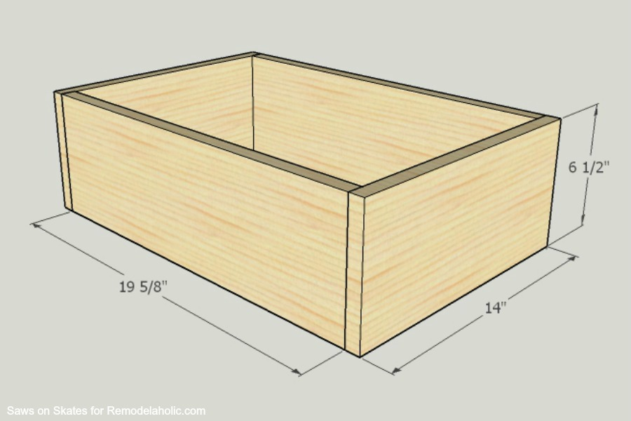 Chunky Nightstand Saws On Skates Drawer Box Assembly 1