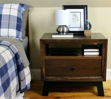 DIY Chunky Solid Wood Nightstand Tutorial + Building Plan