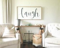 DIY Sawhorse Sofa Table14