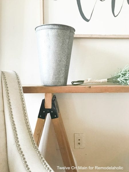 I love this DIY sawhorse sofa table by Twelve On Main