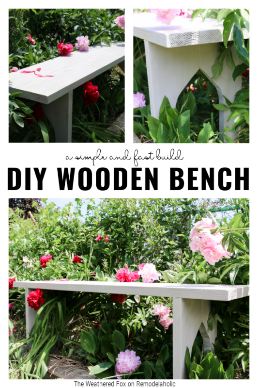 DIY Wooden Bench With Gothic Arch Legs By The Weathered Fox On Remodelaholic