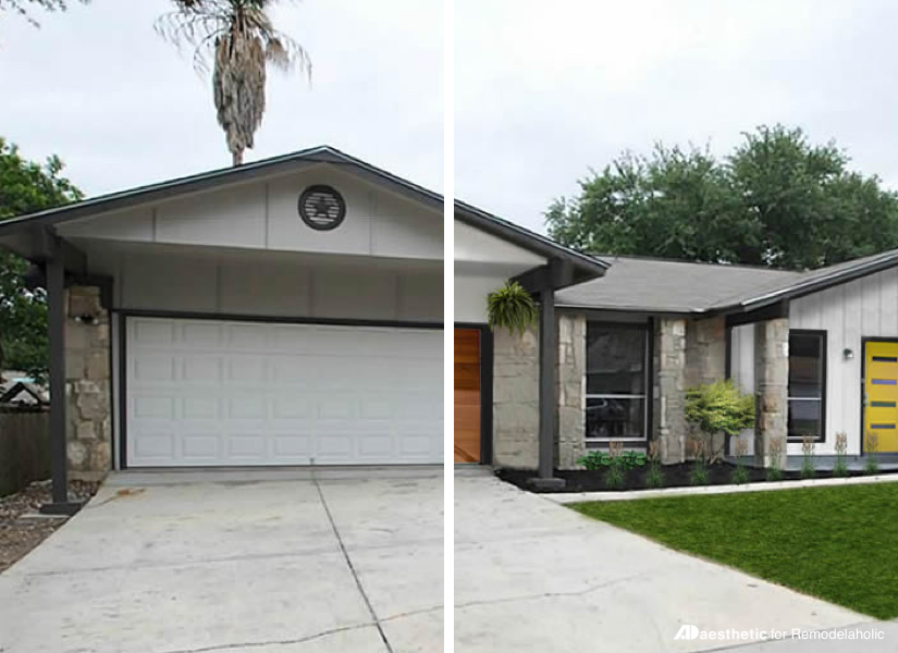 Remodelaholic Real Life Rooms MidCentury Modern Curb Appeal