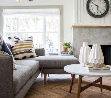 Get This Look: Fixer Upper Giraffe House Living Room