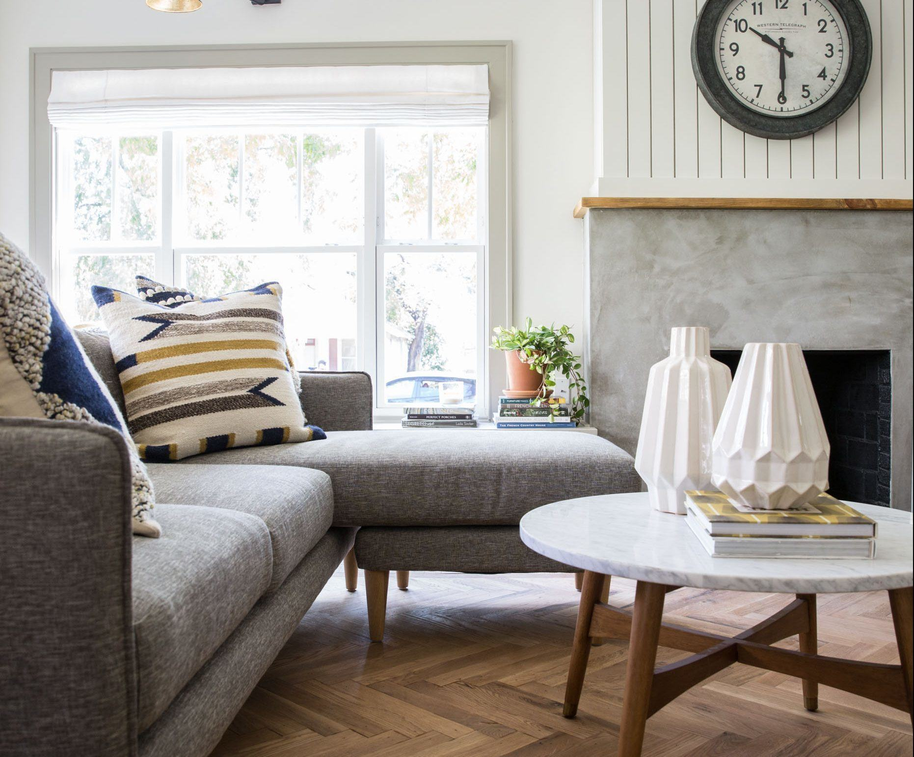 Remodelaholic | Get This Look: Fixer Upper Giraffe House Living Room