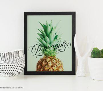 Free Printable: Pineapple Art