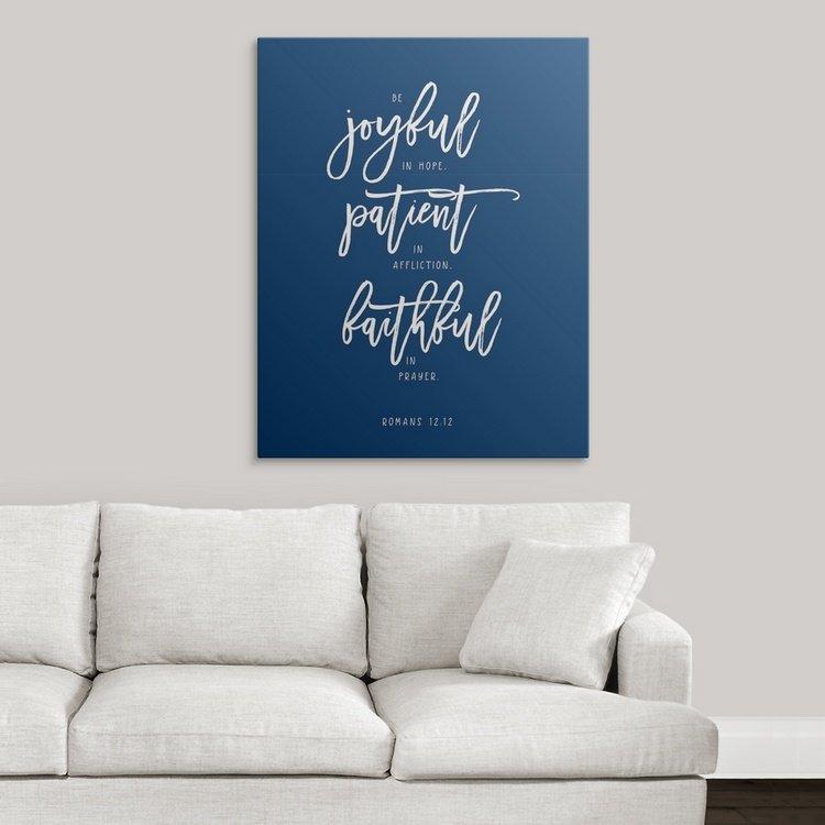 Joyful Patient Faithful - Affordable Word Art
