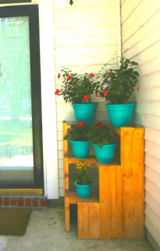 2x4 wood projects, plant stand by Morgan McBride