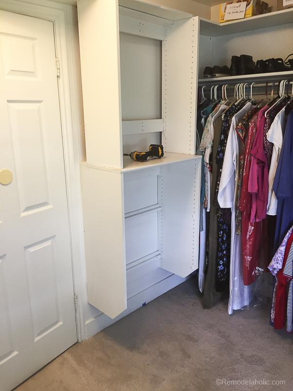Lovely New Speed Queen Stacked Unit Installed Into Closet @Remodelaholic 42