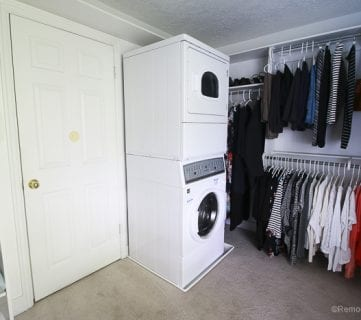 Adding a Stacked Washer and Dryer in a Walk-In Closet