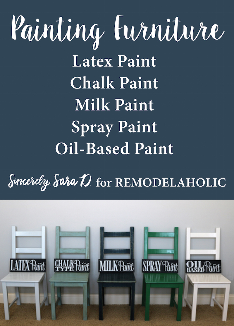 Remodelaholic Painting Furniture Tips For Using 5 Different Types Of Paint