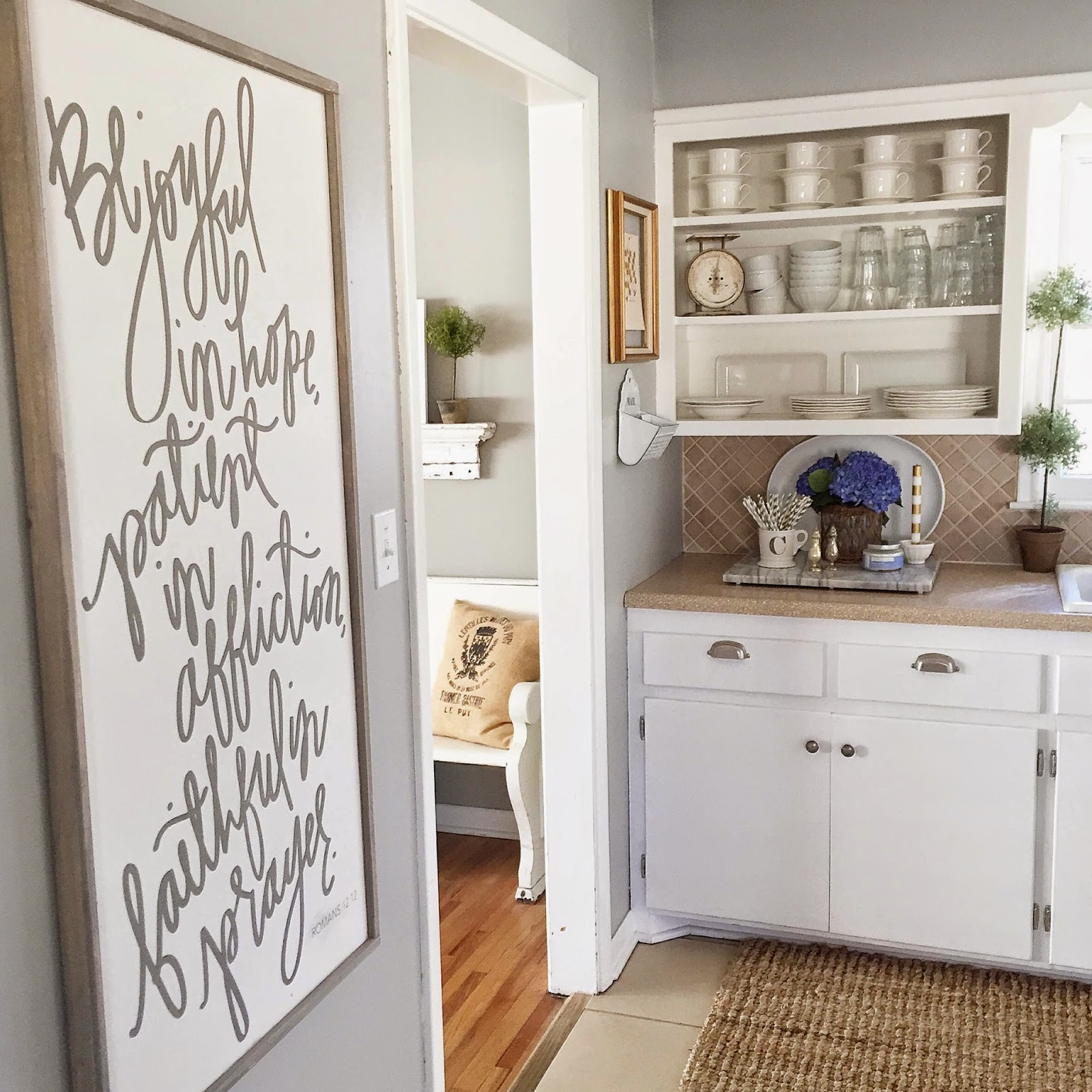 Remodelaholic Color Spotlight Benjamin Moore Coventry Gray - Gray paint for kitchen walls