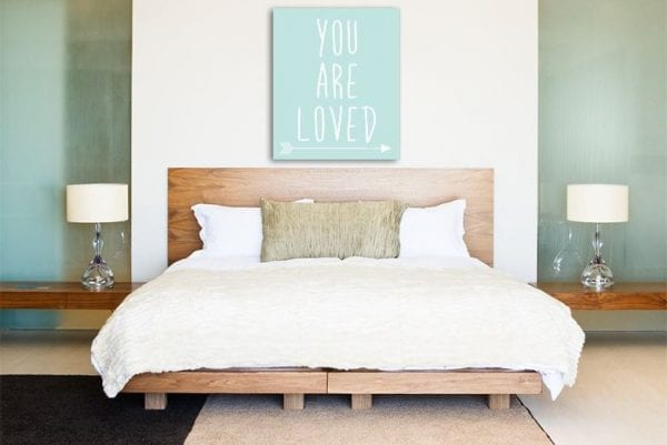 You Are Loved Affordable Wall Art Canvas