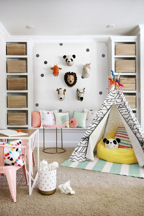 Remodelaholic colorful girls playroom decor and inspiration - Children s room interior images ...