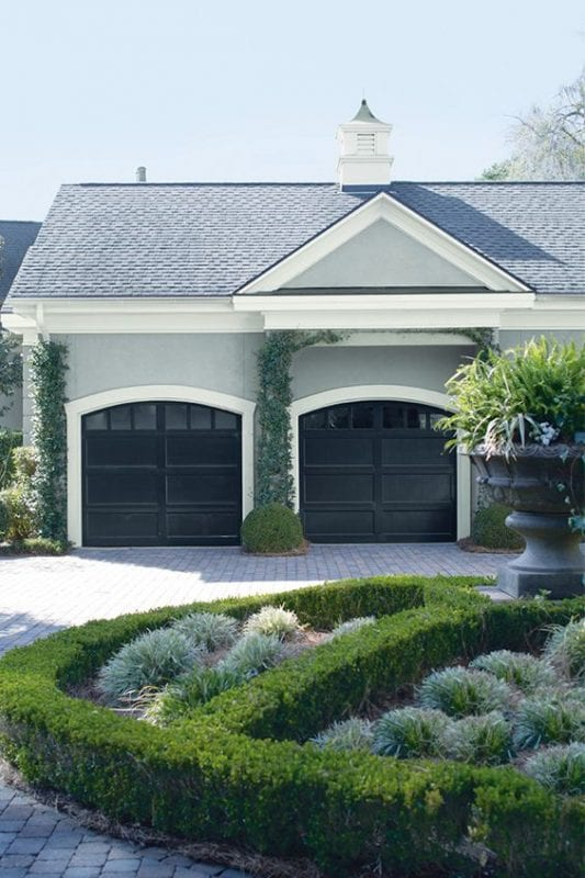 Remodelaholic color spotlight benjamin moore coventry gray for Coventry garage doors