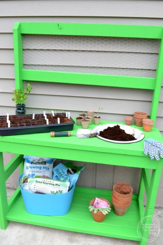 Build With 2x4s, Potting Bench, Refresh Living