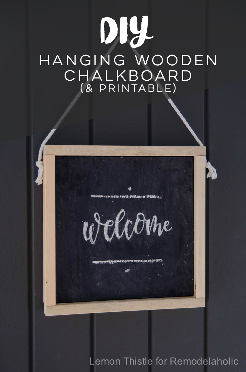 Albert blog how to make your own wooden chalkboard welcome sign free printable template for Chalkboard sign templates