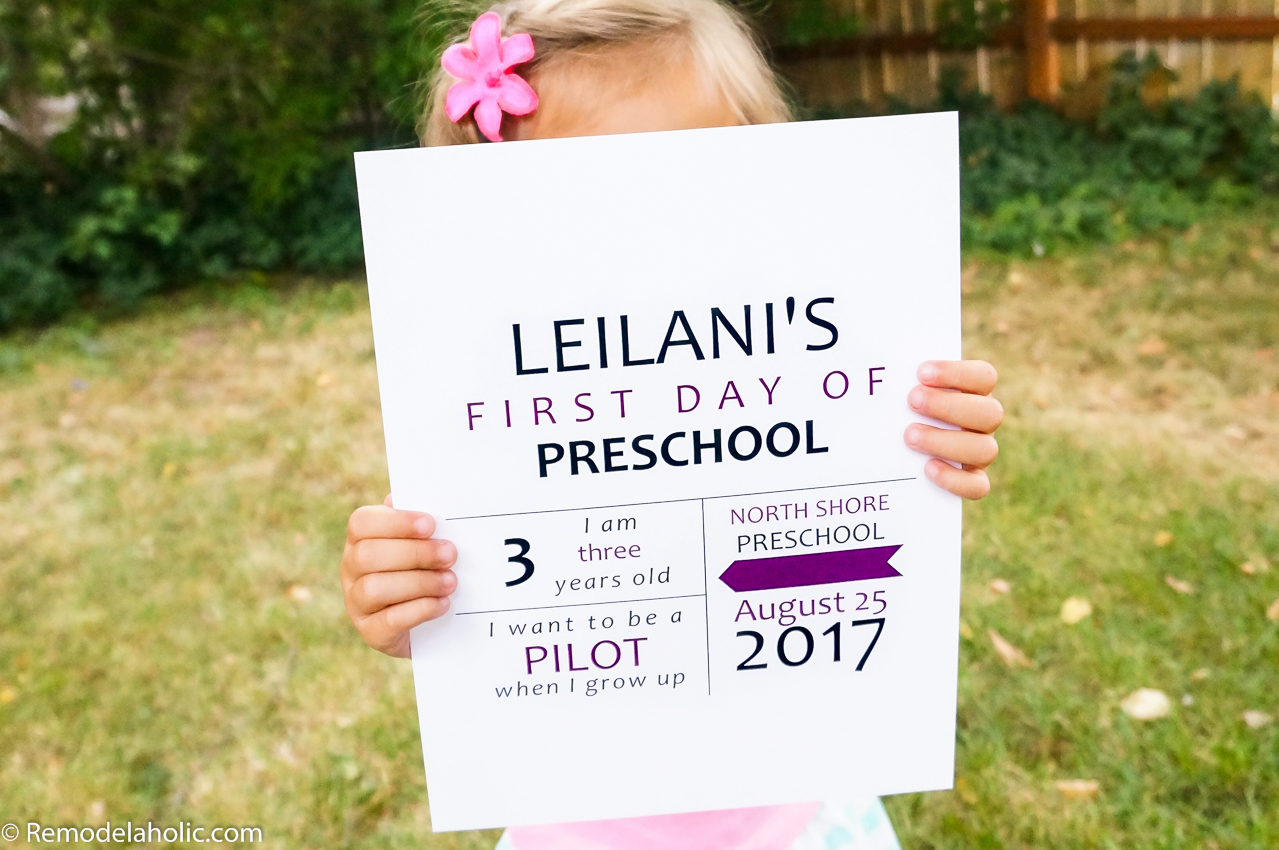 Free Custom Printable First Day of School Sign + 3 More ...