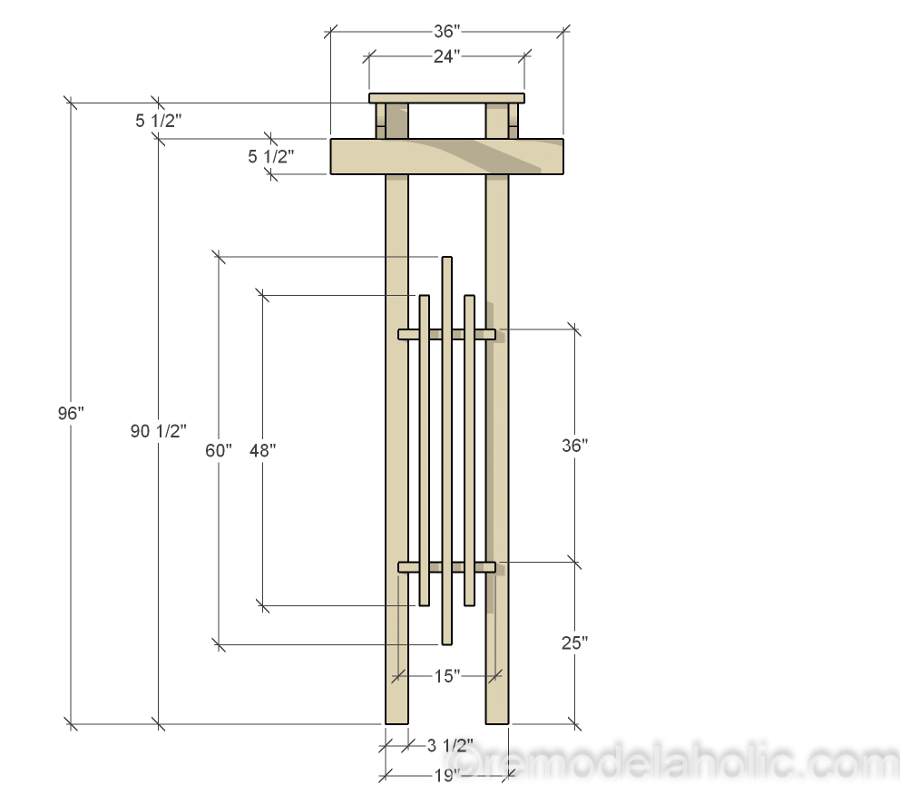 Remodelaholic 2x4 and More How to Build a Garden Arbor Using