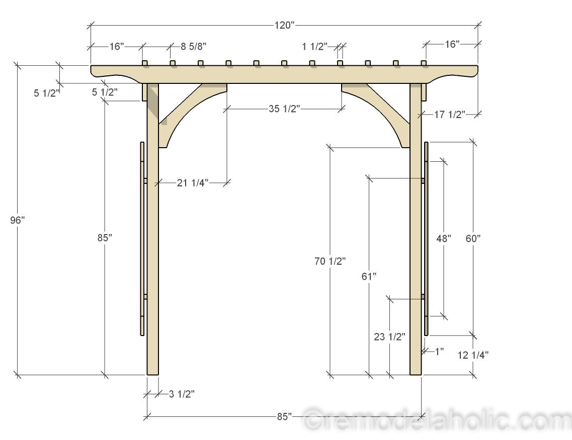 Remodelaholic 2x4 And More How To Build A Garden Arbor Using Budget Friendly Structural Lumber