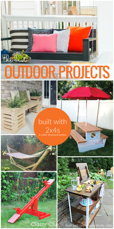 Outdoor 2x4 Projects For Your Garden And Yard @Remodelaholic
