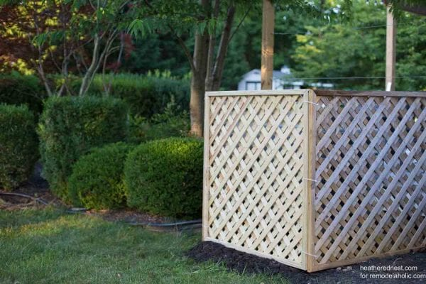 Outdoor Air Conditioner Screen Heatherednest.com For Remodelaholic 14