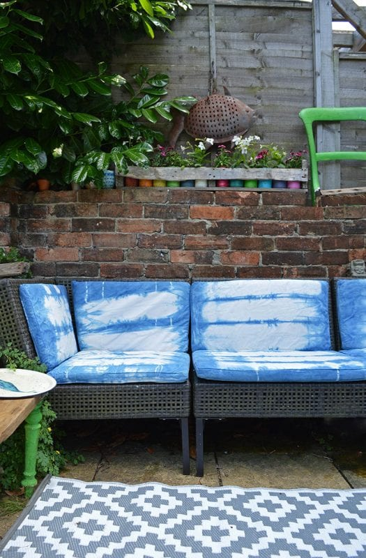 Outdoor Ikea Sofa After Shibori Dyeing 7s