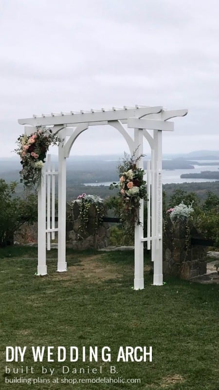 Portable White Wedding Arch Built By Daniel B 9oct19, Plans From Remodelaholic