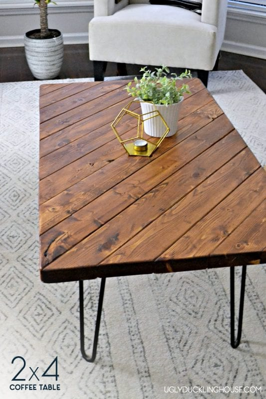 2x4 wood projects, DIY Coffee Table by The Ugly Duckling House