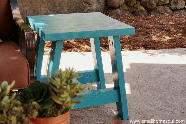 Toni 2x4 Side Table by Home Soul on Remodelaholic