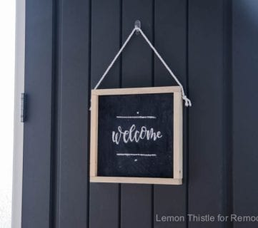 How to Make Your Own Wooden Chalkboard Welcome Sign + Free Printable Template