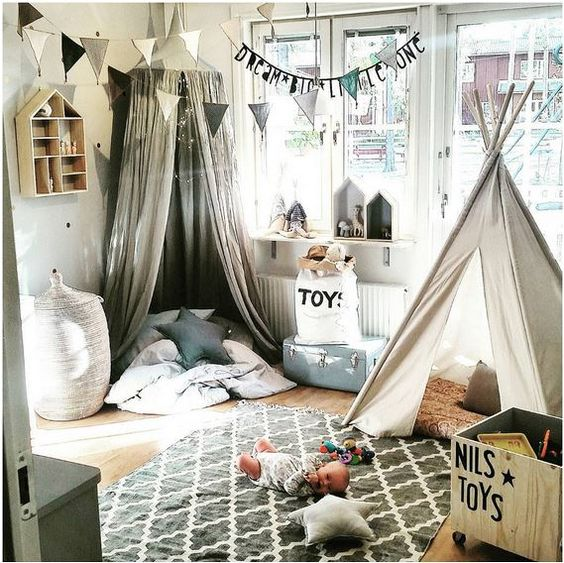 Children S And Kids Room Ideas Designs Inspiration: Playful And Blue: Boys Playroom Decor And
