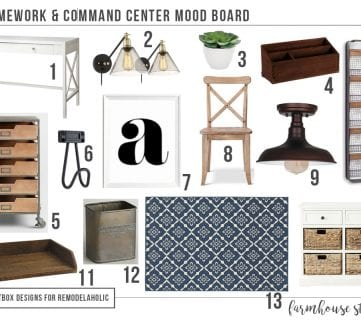 Get Ready For School with a Farmhouse Style Homework Station + Command Center